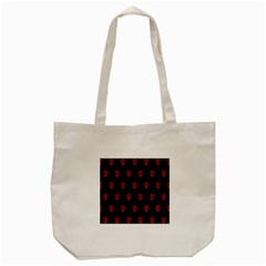 Skull Pattern Red Tote Bag (cream)
