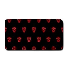 Skull Pattern Red Medium Bar Mats