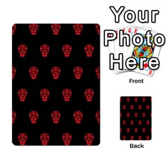 Skull Pattern Red Multi Purpose Cards (rectangle)