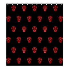 Skull Pattern Red Shower Curtain 66  x 72  (Large)