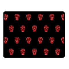 Skull Pattern Red Fleece Blanket (Small)