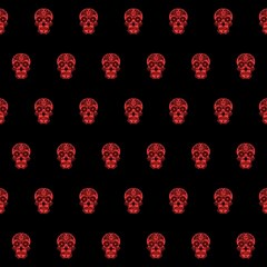 Skull Pattern Red Magic Photo Cubes