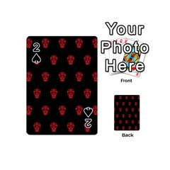 Skull Pattern Red Playing Cards 54 (Mini)
