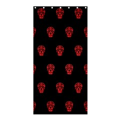 Skull Pattern Red Shower Curtain 36  x 72  (Stall)