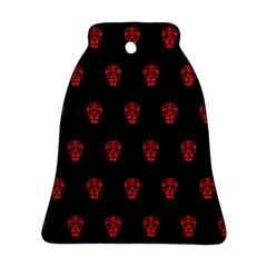Skull Pattern Red Ornament (Bell)