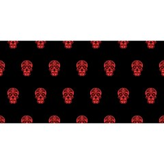 Skull Pattern Red YOU ARE INVITED 3D Greeting Card (8x4)