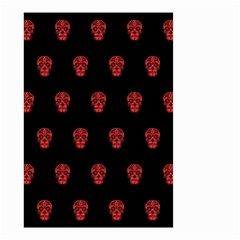Skull Pattern Red Small Garden Flag (Two Sides)