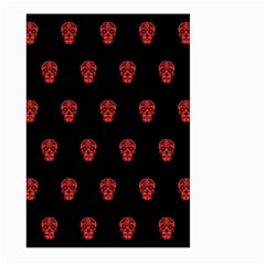 Skull Pattern Red Large Garden Flag (two Sides)