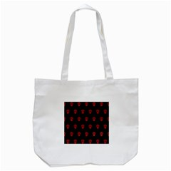 Skull Pattern Red Tote Bag (white)