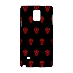 Skull Pattern Red Samsung Galaxy Note 4 Hardshell Case