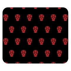 Skull Pattern Red Double Sided Flano Blanket (small)