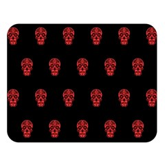 Skull Pattern Red Double Sided Flano Blanket (large)