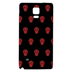 Skull Pattern Red Galaxy Note 4 Back Case