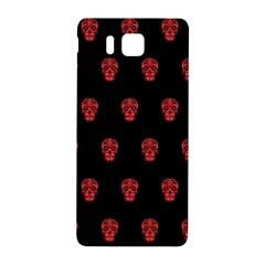 Skull Pattern Red Samsung Galaxy Alpha Hardshell Back Case