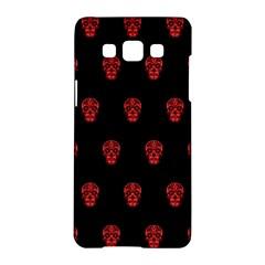 Skull Pattern Red Samsung Galaxy A5 Hardshell Case