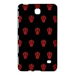Skull Pattern Red Samsung Galaxy Tab 4 (8 ) Hardshell Case