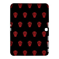 Skull Pattern Red Samsung Galaxy Tab 4 (10.1 ) Hardshell Case