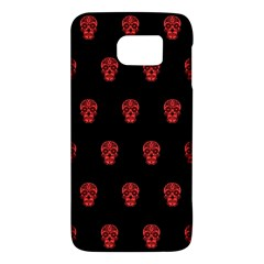 Skull Pattern Red Galaxy S6