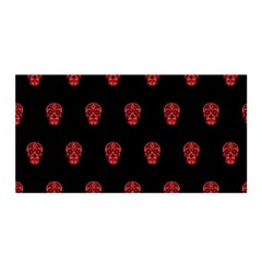 Skull Pattern Red Satin Wrap