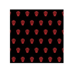 Skull Pattern Red Small Satin Scarf (square)