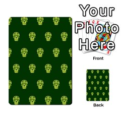 Skull Pattern Green Multi Purpose Cards (rectangle)