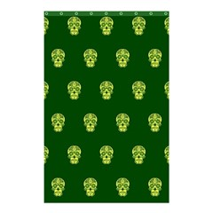 Skull Pattern Green Shower Curtain 48  x 72  (Small)