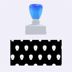 Skull Pattern Green Rubber Stamps (Medium)