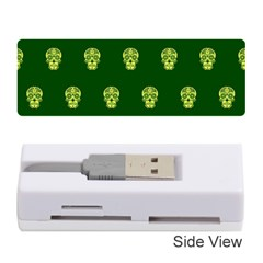 Skull Pattern Green Memory Card Reader (stick)
