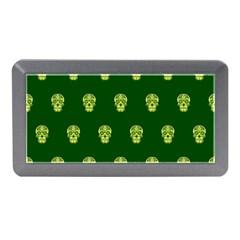 Skull Pattern Green Memory Card Reader (Mini)