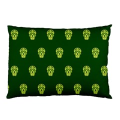 Skull Pattern Green Pillow Cases (Two Sides)
