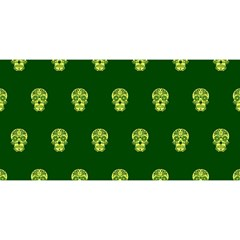 Skull Pattern Green You Are Invited 3d Greeting Card (8x4)
