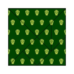 Skull Pattern Green Acrylic Tangram Puzzle (6  x 6 )