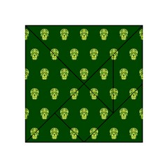 Skull Pattern Green Acrylic Tangram Puzzle (4  x 4 )
