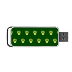 Skull Pattern Green Portable USB Flash (Two Sides)