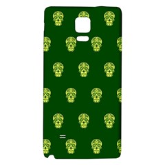 Skull Pattern Green Galaxy Note 4 Back Case