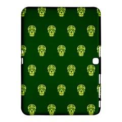 Skull Pattern Green Samsung Galaxy Tab 4 (10.1 ) Hardshell Case