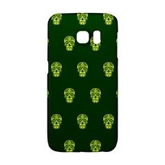 Skull Pattern Green Galaxy S6 Edge