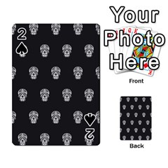 Skull Pattern Bw  Playing Cards 54 Designs