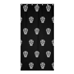 Skull Pattern Bw  Shower Curtain 36  x 72  (Stall)