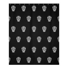 Skull Pattern Bw  Shower Curtain 60  X 72  (medium)