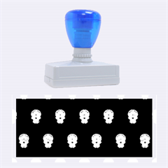 Skull Pattern Bw  Rubber Stamps (Large)