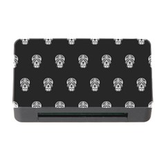 Skull Pattern Bw  Memory Card Reader With Cf