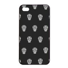 Skull Pattern Bw  Apple iPhone 4/4s Seamless Case (Black)