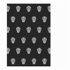 Skull Pattern Bw  Small Garden Flag (Two Sides)