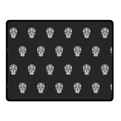 Skull Pattern Bw  Double Sided Fleece Blanket (small)