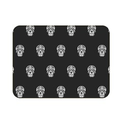 Skull Pattern Bw  Double Sided Flano Blanket (Mini)