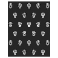 Skull Pattern Bw  Drawstring Bag (Large)