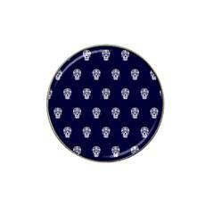 Skull Pattern Blue  Hat Clip Ball Marker (4 Pack)