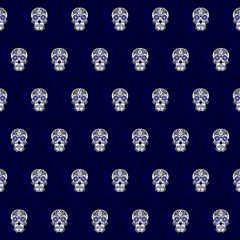 Skull Pattern Blue  Magic Photo Cubes
