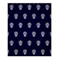 Skull Pattern Blue  Shower Curtain 60  x 72  (Medium)